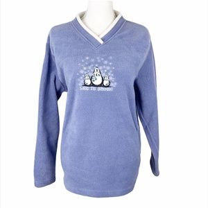 Croft & Barrow Thick Let It Snow Pullover Sweater